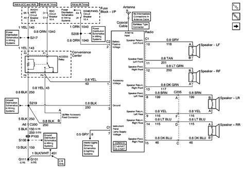 wire schematic    gmc  radio speaker harness     fix