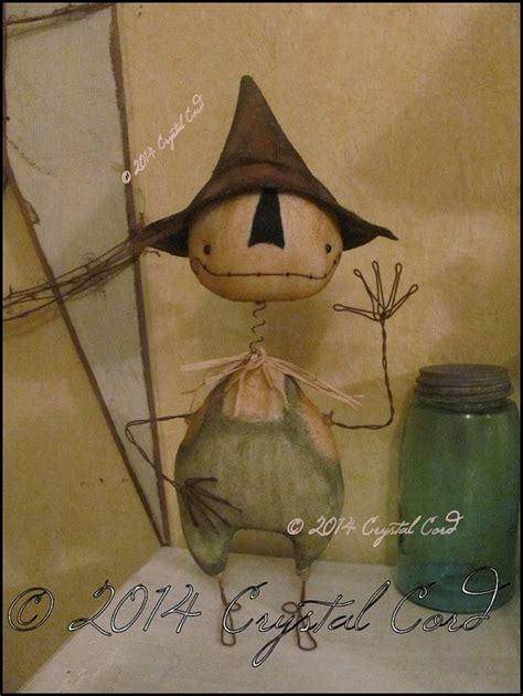Mit Kindern Basteln Weihnachten 2440 by Whimsical Scarecrow Bobble Standing Doll Country By