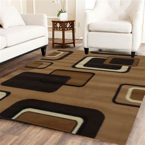 Beige Modern Geometric Area Rug 5x8 Contemporary Carpet Ebay Contemporary Area Rugs 5x8