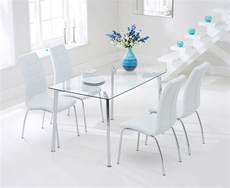 malia cm glass dining table  calgary chairs  great furniture trading company