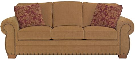 upholstery cambridge broyhill furniture cambridge casual style sofa with nail