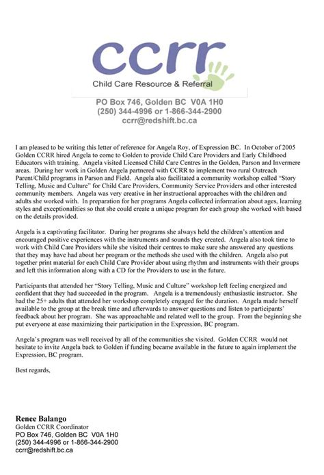 Reference Letter For Ece Index Of Assets Reference Letters