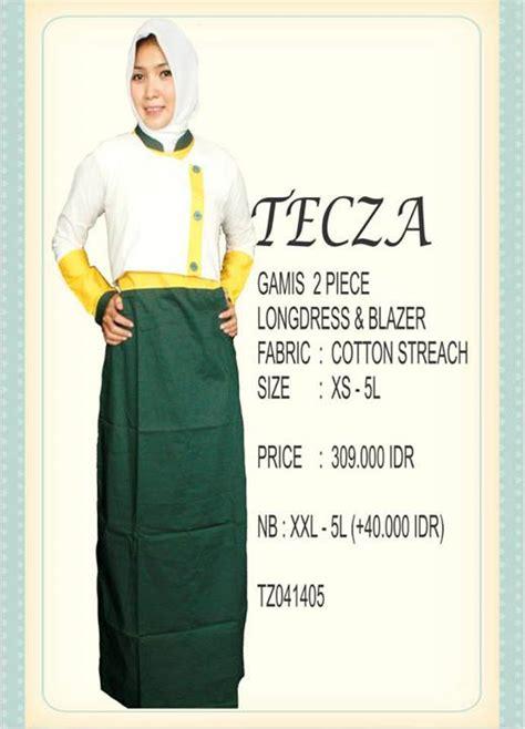 Baju Muslim Zaharaa 2 Pieces tecza tz041405 baju muslim gamis modern