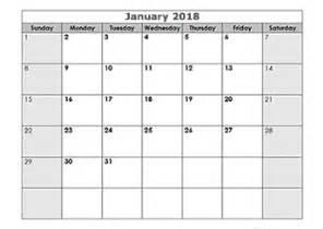 Calendar 2018 Empty 2018 Blank Calendar Templates Free Printable