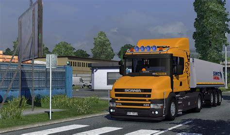 scania vrachtwagen interieur scania t124 420 truck interior euro truck simulator 2 mods