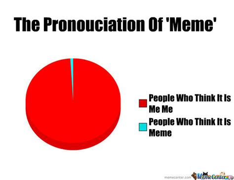 Pronunciation Meme - the pronunciation of meme by recyclebin meme center