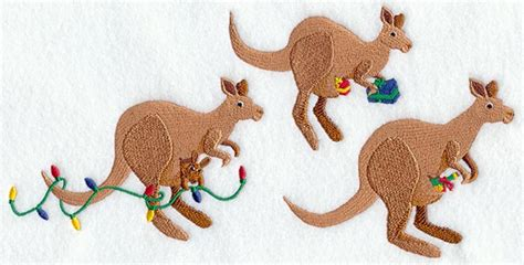 kangaroo christmas lights machine embroidery designs at embroidery library embroidery library