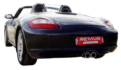 porsche cayman s sports exhaust remus sport exhaust for 2006 08 porsche cayman s boxster s