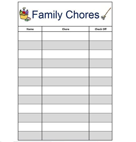 Chores List For Family 17 Best Images About Chore Chart On