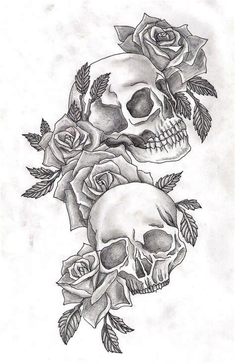 tattoos of skulls with roses skulls and roses by adler666 skull tattoos skull