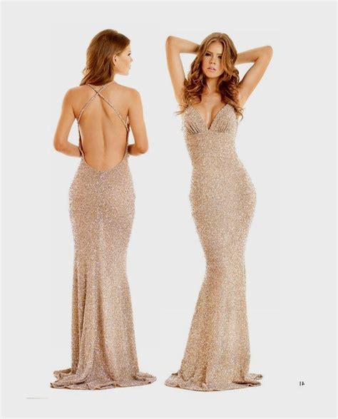 gold sequin open back prom dress naf dresses