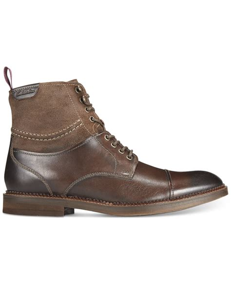 Shoes Clarks Boots Brown lyst clarks bushwick peak boots in brown for
