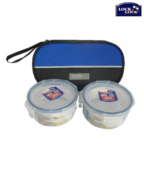 Lock N Lock Angelia K lock lock lock system tiffin box set with a bag buy at best price in india