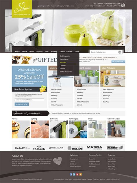 ot ceramic ceramic shop joomla virtuemart template