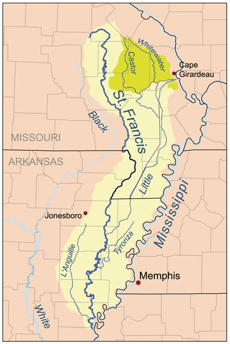 st river map tributaries of the mississippi river