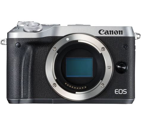 Canon Eos M6 Only Canon M6 Eos M6 buy canon eos m6 mirrorless silver only free delivery currys