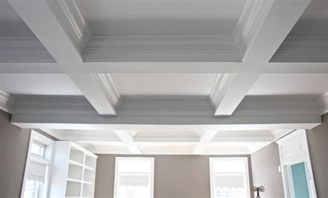 coffered ceiling ideas the yellow cape cod amazing room transformation with