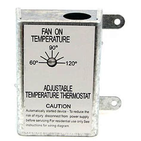 thermostat controlled attic fan nutone rfth95 attic ventilator replacement thermostat