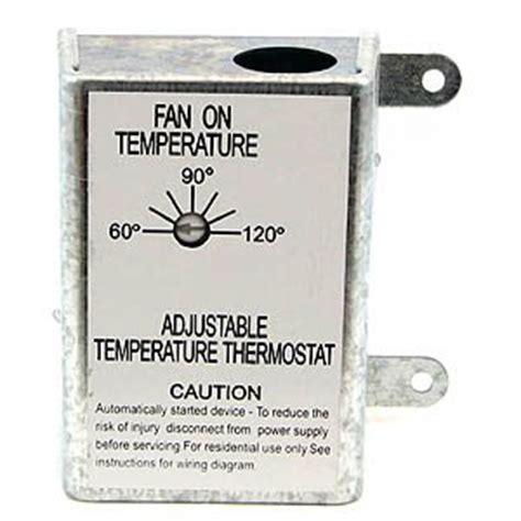 lomanco attic fan thermostat nutone rfth95 attic ventilator replacement thermostat