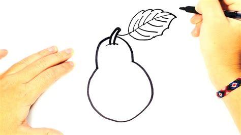 imagenes para pintar las uñas c 243 mo dibujar una pera para ni 241 os dibujo f 225 cil de una