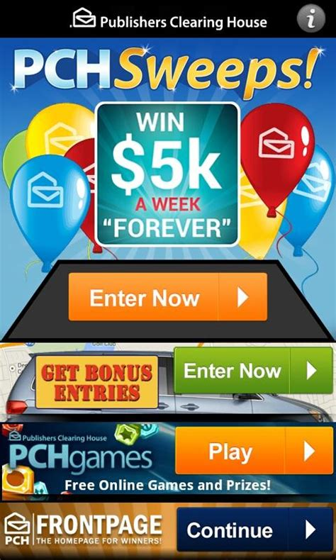 Pch Instant Win Sweepstakes - pch sweeps android apps on google play