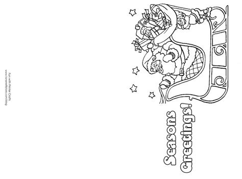 coloring pages for christmas cards free printable coloring christmas cards for color 503701