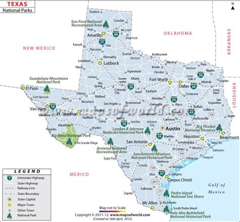 map of state parks in texas texas national parks western us trip