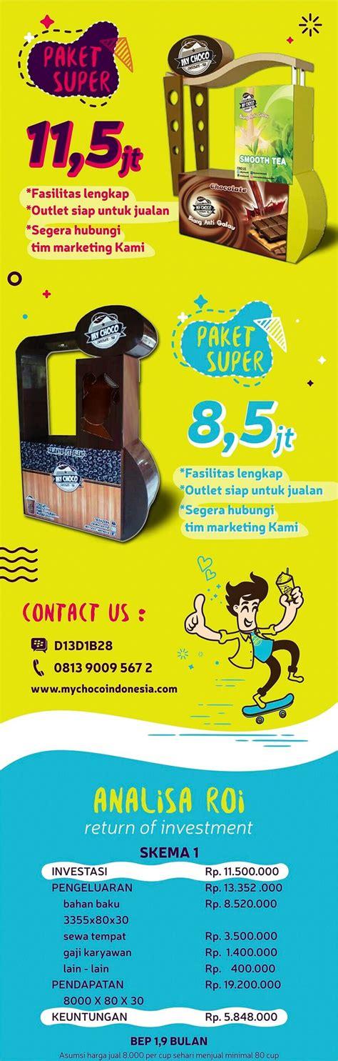 Paket Peluang Usaha Minuman Coklat Komplit 1 peluang usaha waralaba minuman mychoco indonesia