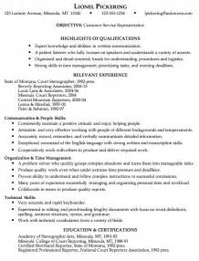 Sample Resume Objectives In Customer Service by Customer Service Resume Sample Objective