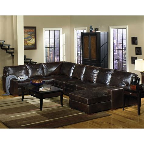 rc willey sectional sofas rc willey 3 tobacco leather sectional