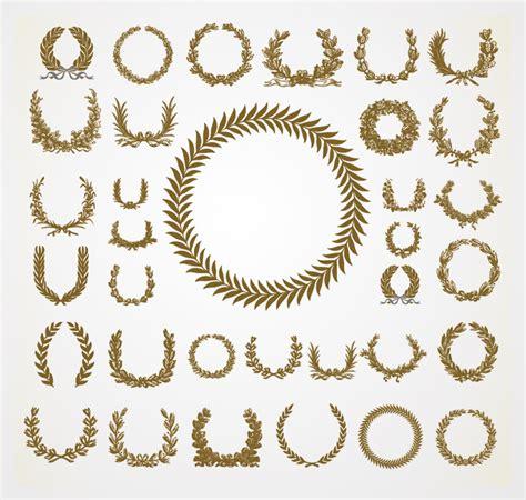 printable laurel leaf crown free vector set of olive laurel wreaths design