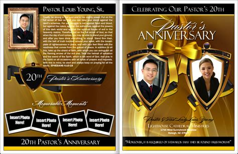 flyer template for pastor anniversary appreciation templates on free