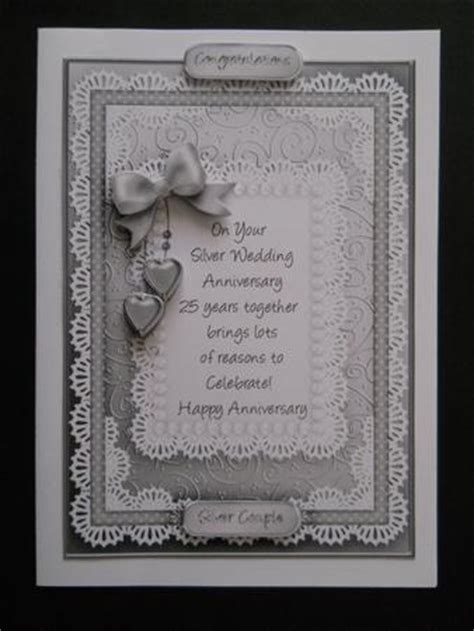 silver wedding anniversary printable cards a5 silver wedding anniversary quick card with 3d decoupage