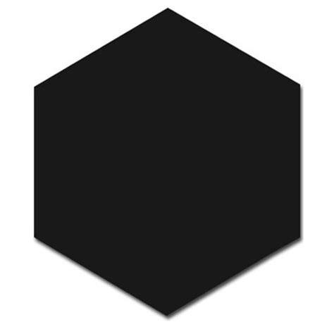 Origami hexagon black 25 8cm x 29cm wall amp floor tile