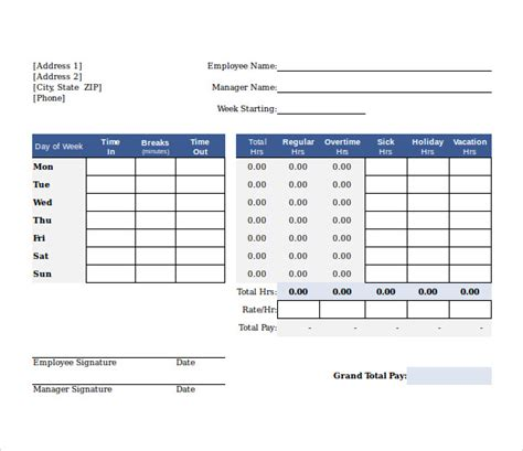 beautiful biweekly time sheet calculator crest resume ideas
