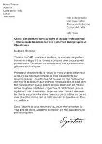 lettre de motivation bac pro tmsec mod 232 le de lettre
