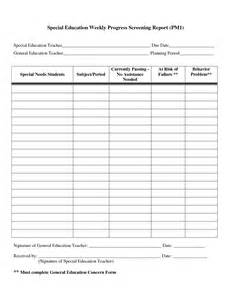 Weekly Progress Report Template Middle School Search Results For Elementary Student Progress Report