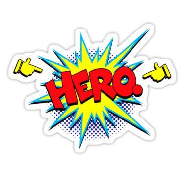 Marvel Superhero Wall Stickers quot funny superhero comic word hero quot stickers by tee brain