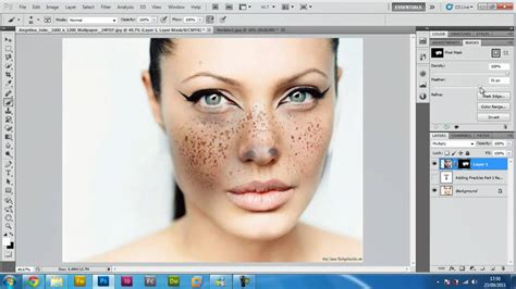 photoshop cs5 tutorial simple face replacement retouching adding freckles on photoshop cs5 exclusive