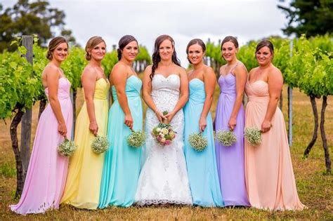pastel color bridesmaid dresses how to choose bridesmaid dresses trends and expert s advice