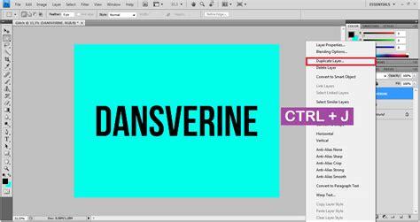 Membuat Effect cara membuat glitch text effect dengan photoshop dansverine