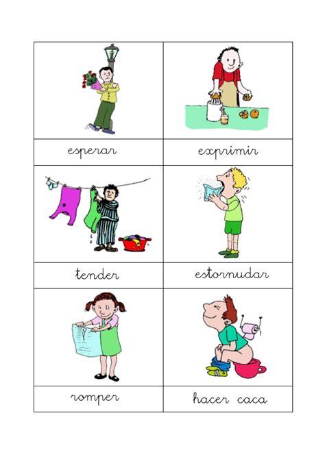 Vocabulario En Im 225 Genes Maestra De Infantil Y Primaria | dibujos acciones verbos acciones con dibujos