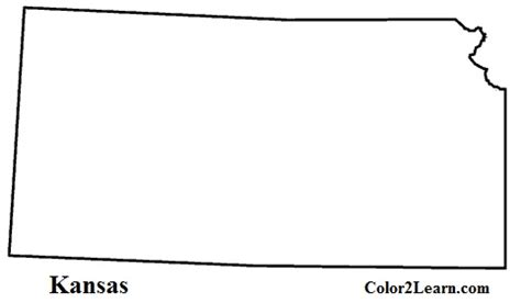kansas colouring pages