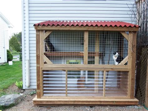 cat enclosures diy heated outdoor cat enclosures the best cats heating