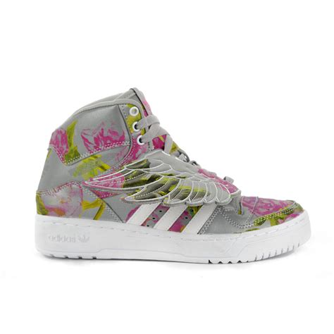 adidas originals wings floral reflective grey shoes b26023 new