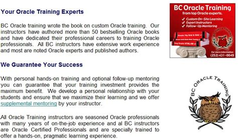 oracle tutorial for experienced oracle 11g training courses