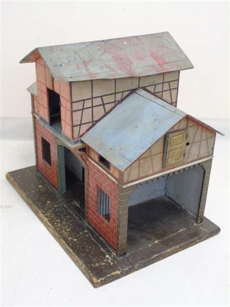 Handmade Dollhouse - antique 19th c handmade dollhouse stable