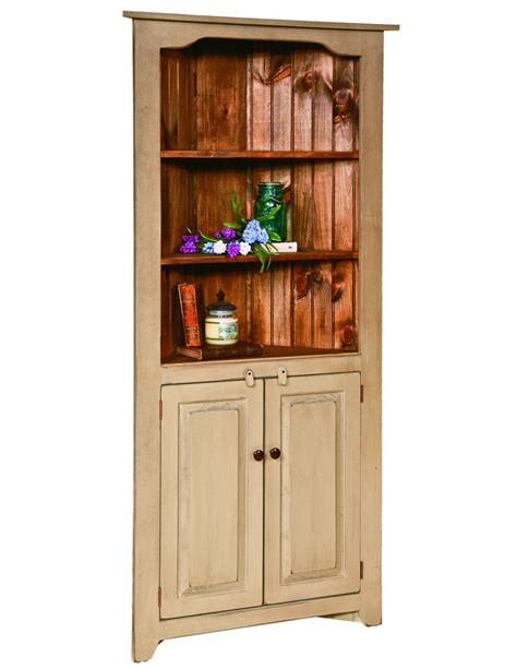 Kitchen Hutch Furniture Corner China Hutch Kitchen Cabinet Country Farmhouse Amish Handmade Furniture Cabinets Cupboards