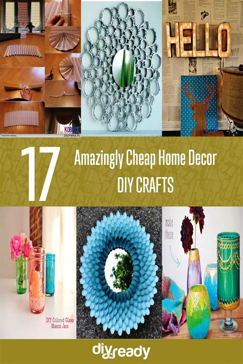 cheap diy home decor crafts 17 amazingly cheap home