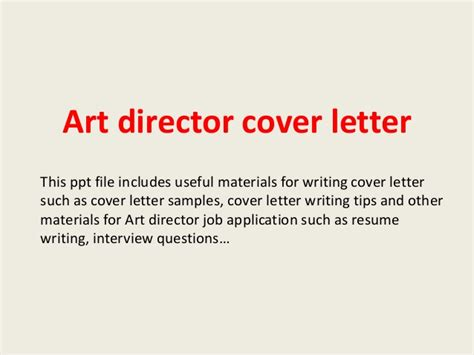 Artistic Director Cover Letter by Director Cover Letter